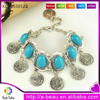 US coin charms bracelet with turquoise ebay on sale cheap jewelry