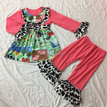 90ce0afc4 Baby clothin boutique wholesale fashion clothing infant inflatable children  wear farm print online shopping China clothes