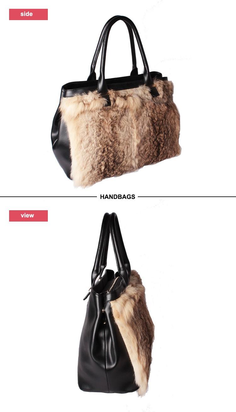 Brand factory online shopping women genuine leather handbag luxury pony  hair tote bag 5bce7dcb0aa26