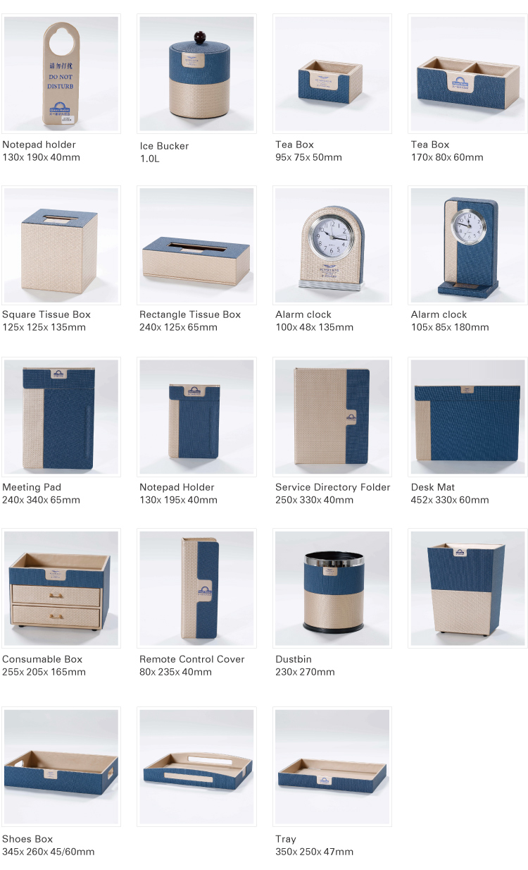 Wholesale Hotel Room Leather Products Leather Check Folder Hotel Amenities Supplies