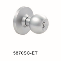 Stainless Steel Interior One Way Cylindrical Door Knob Locks With Key