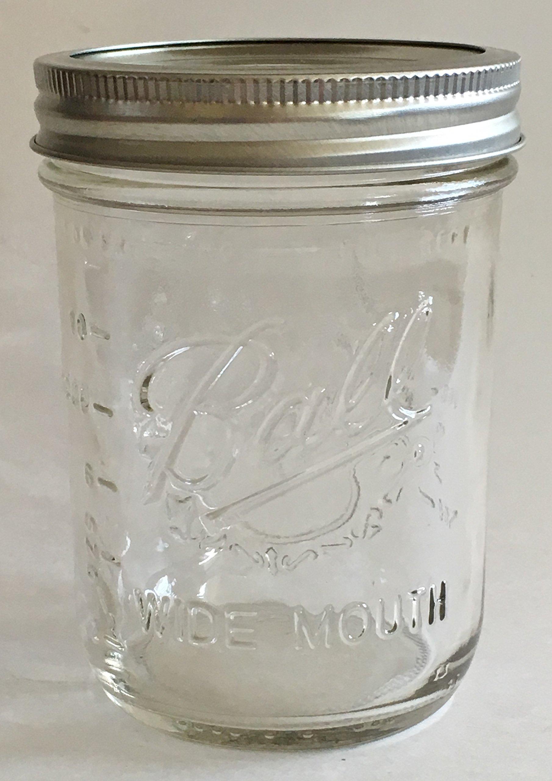 Ball Mason Jar-16 oz. Clear Glass Wide Mouth-One Jar