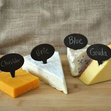 New year party cheese markers Slate Cake Topper and Cheese Markers set of 6