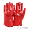 NMSAFETY China hand glove red PVC coated gloves working Free Sample