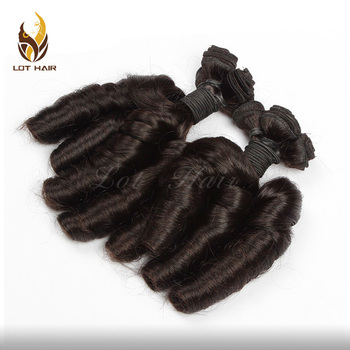 Wholesale top quality cheap funmi hair 3pcs/lot virgin Peruvian human hair short funmi curly hair weaves