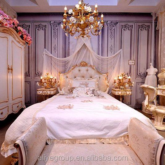 Wy116 New Luxury Weiss Holzbett Kinderzimmermobel Teenager Madchen