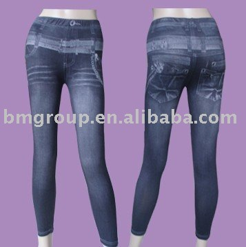 ladies jeans,knitted jeans,spandex jeans,fake jeans,pantyhose
