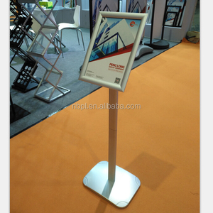 Decorative menu board silver poster display floor stand