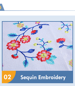 2018 fashion sequins embroidery fabric for woman dress and garment