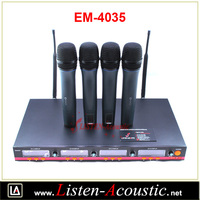 Em-4035 Professional Vocal Artist Uhf Audio Wireless Microphone ...