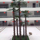 China manufacturer wholesale outdoor tall plastic artificial palm tree for market decoration
