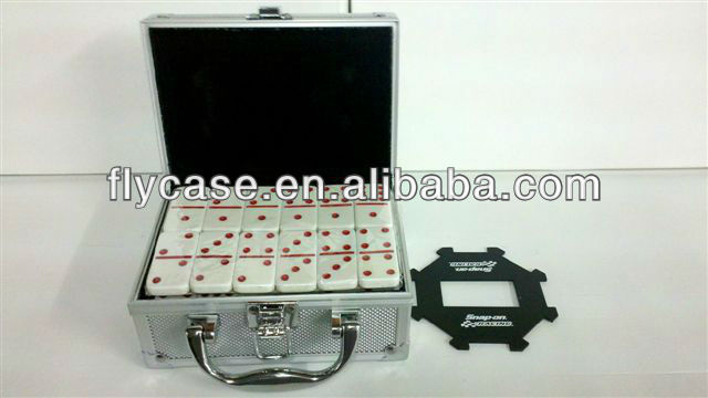 2015 new Aluminum mahjong case with handle and safe locks