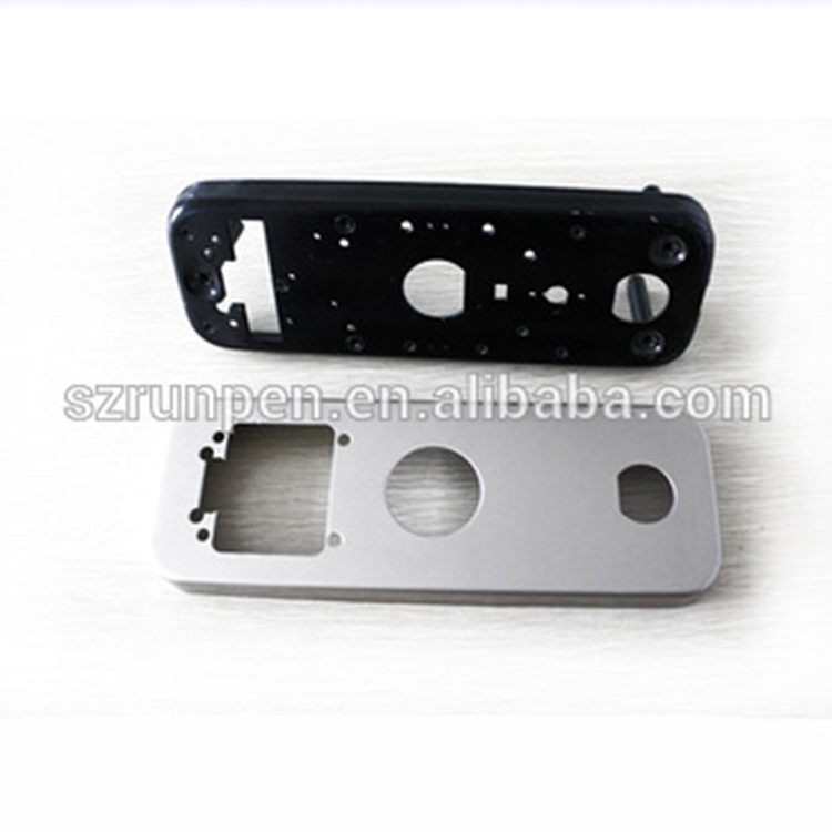 OEM CNC punching parts stainless steel door lock cover plate
