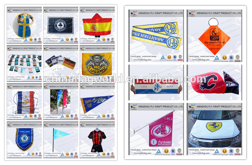 High quality hand held flags