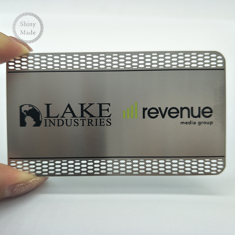 Metal crafts OEM manufacturer visit blanks in china stainless steel metal business card