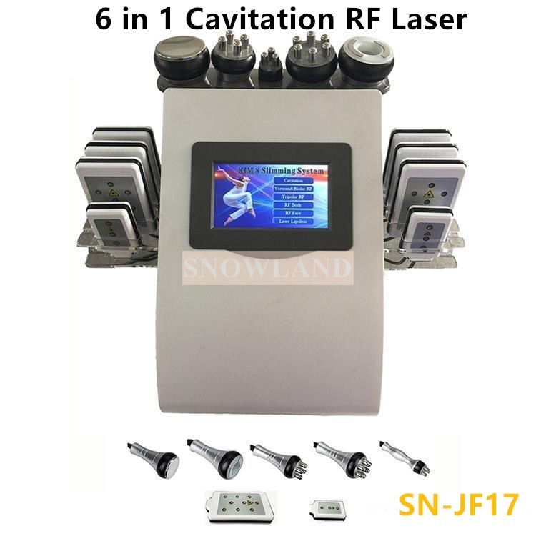 HOT 6 in 1 Vacuum Ultrasound Cavitation RF machine for beauty salon/ home use