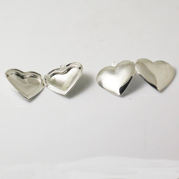 Beadsnice id 3357 make your own pendant brass album box heart silver beadsnice id 3357 make your own pendant brass album box heart silver plated inside diameter 21x17mm aloadofball Images
