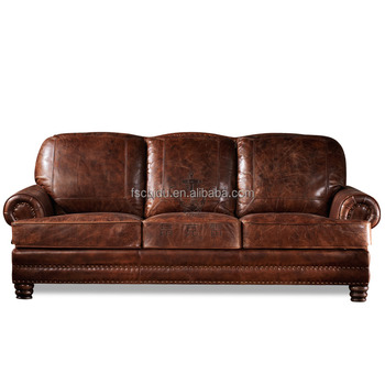 Cushion Filled With Down Feather Comfortable Natuzzi Distressed Brown Leather Sofa Vintage