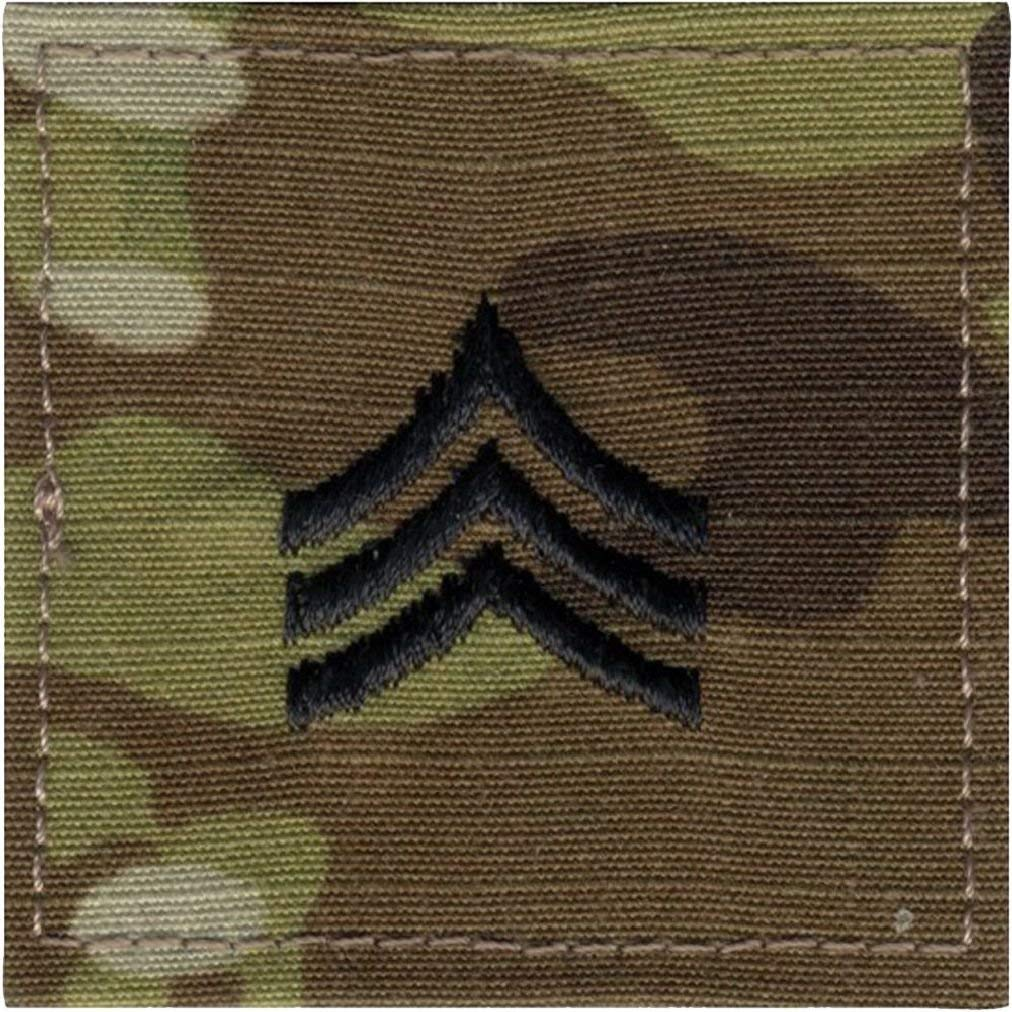 Multi Cam Camouflage Military Rank Rip-Stop Insignia Patch