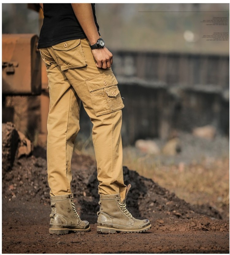 rich and magnificent clear-cut texture no sale tax Wholesale-Men's Outdoors Tactical Sports Camping Hunting Pants Travel  Cycling Mountaineer Pocket Overalls A Tough Guy Wind straight