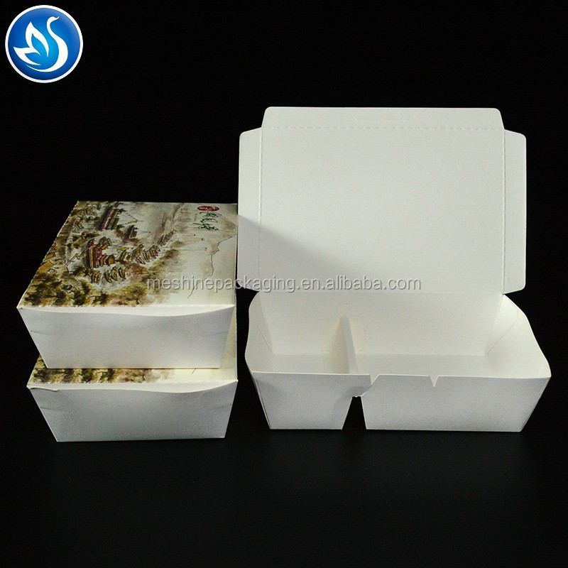 Custom disposable fast food paper lunch box