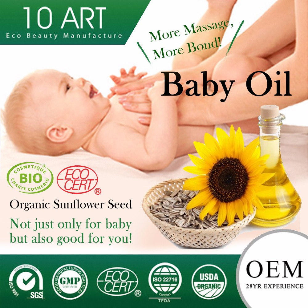 Vitamin E moisturizing baby oil special aroma added