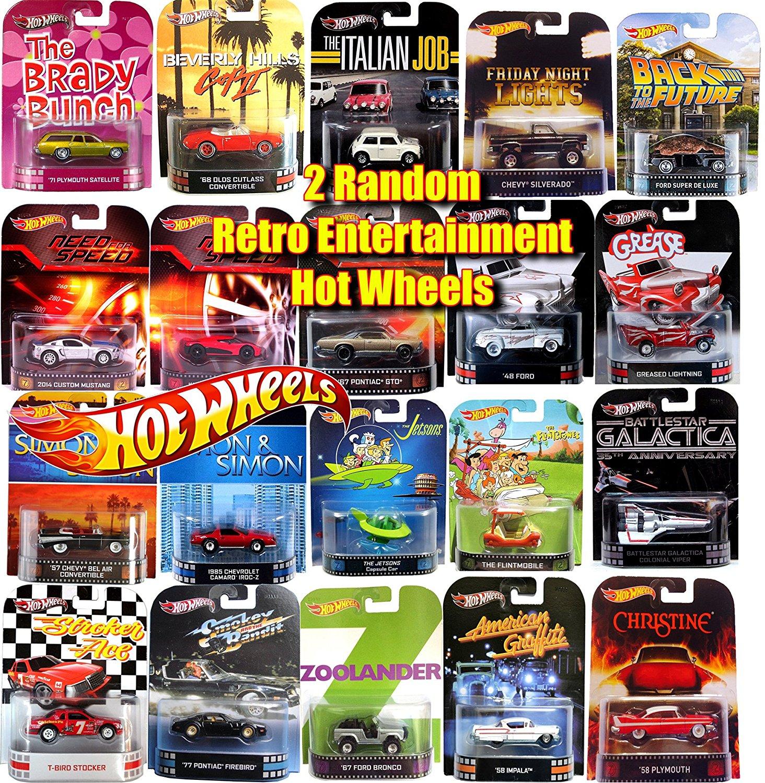 2 Hot Wheels Retro Entertainment Random Car *2 New Cars * HW Mystery Cars various model