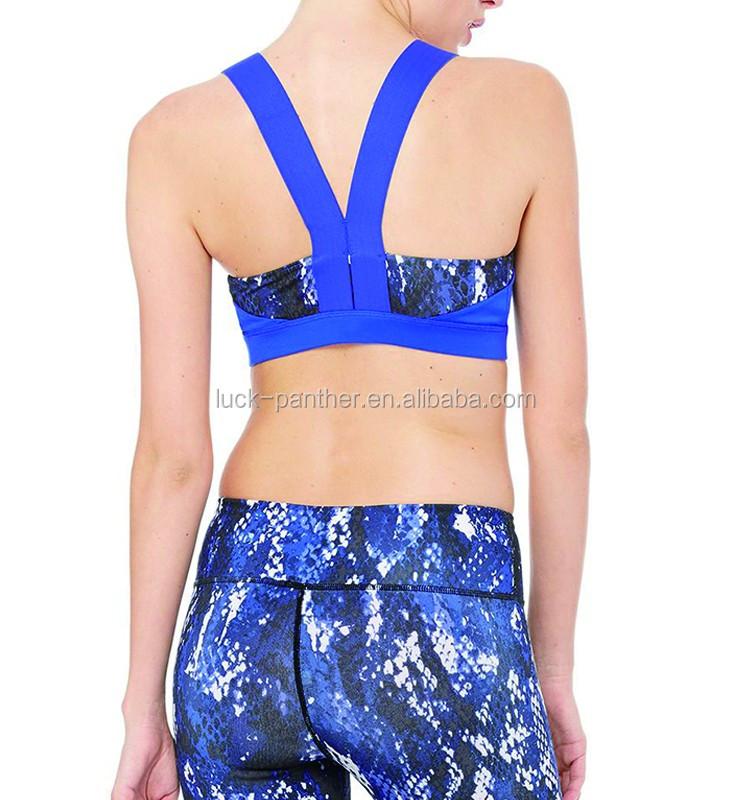 386082adb3 High Quality Ladies bra Women Custom Blank Strappy Criss-cross Back Comfort  Sports Bra with