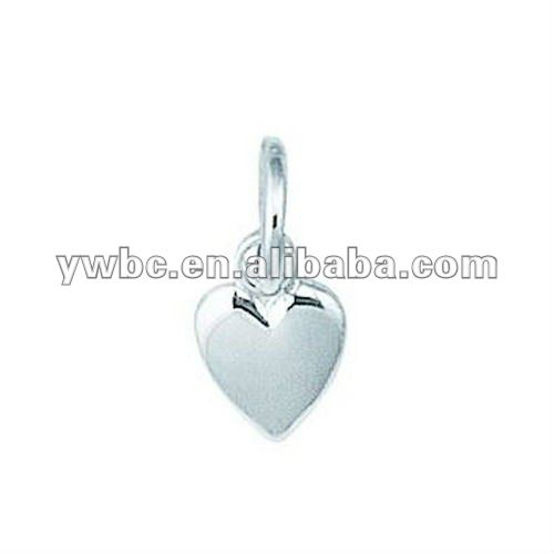 silver plating tiny puff heart charms bulk (H102177)