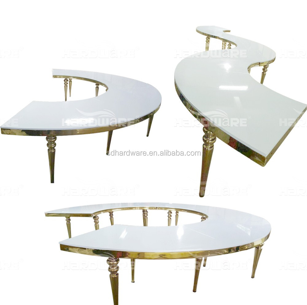 S Shaped Coffee Table Modern S Shape Dubai Wedding Banquet Table For Hotel Buy Wedding