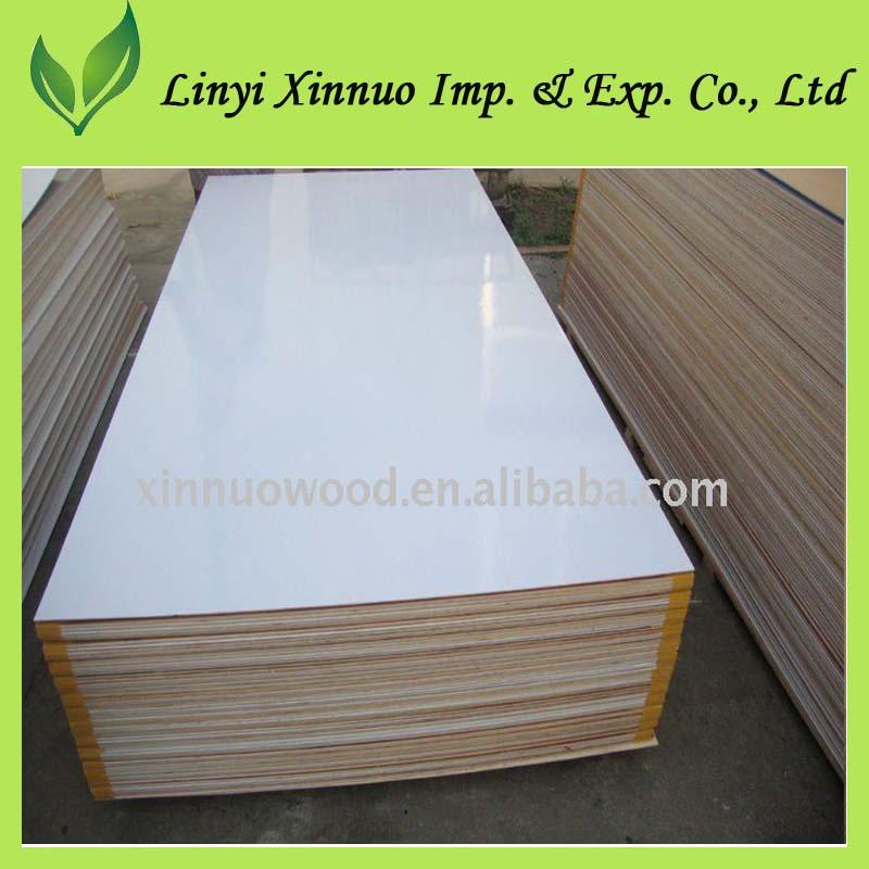 Blanco poli madera pvc recubierto de madera contrachapada - Madera contrachapada precio ...
