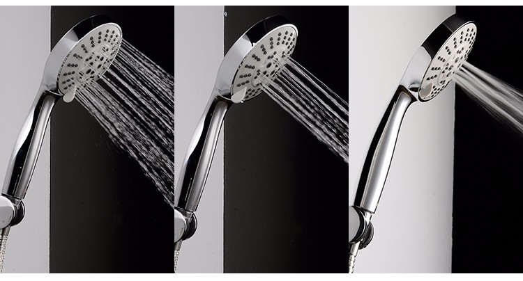 Hot Sale Hand Shower 3 Functions Chrome ABS Plastic Rain Shower Head