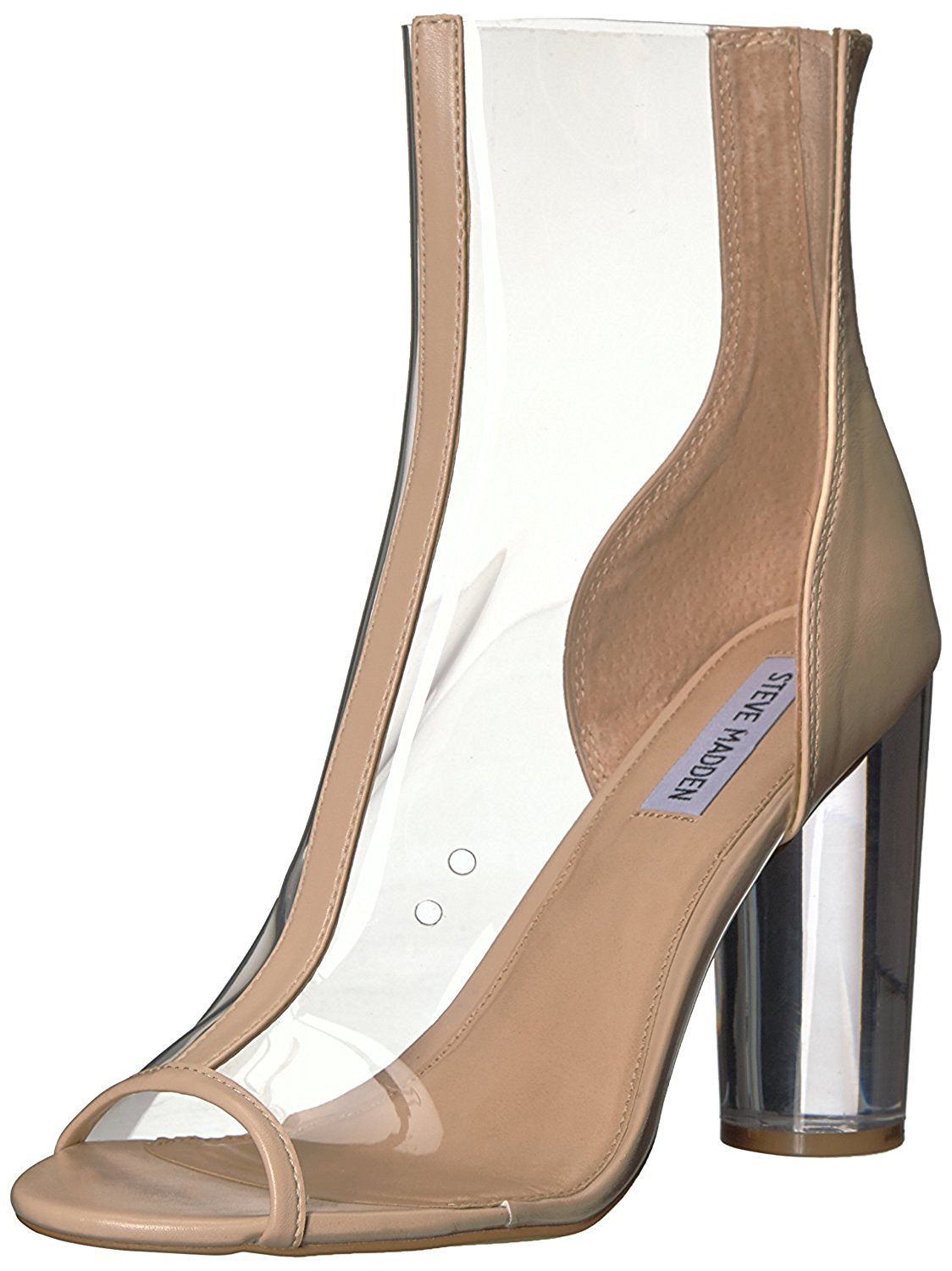 0fa3147626c Get Quotations · Steve Madden Portal Peep-Toe Synthetic Nude Heels Size 5 m