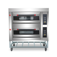 commercial gas pizza bread maker making machine bakery oven