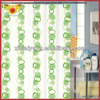 Wholesale Liquidation Overstock Surplus Vogue Oriental Beaded Curtains Polyester Fabric Thick Shower Curtain