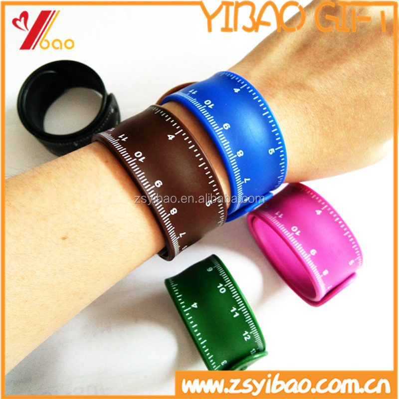 Custom High Quality Ruler Silicone Slap Bracelet For Kids Gift Rubber Snap Wrist