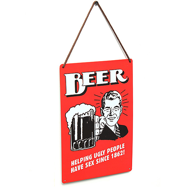 Vintage Tin Sign Metal Wall Art Decor Retro Bar Home Poster Plaque Advertising Beer Sign Beer Poster 30x20cm Free Shipping