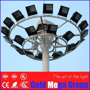 Auto Lift System 24 Nos 400w Hps 30m High Mast Light Pole - Buy High Mast  Lighting Pole,30m High Mast Lighting Price,30m High Mast Pole Product on