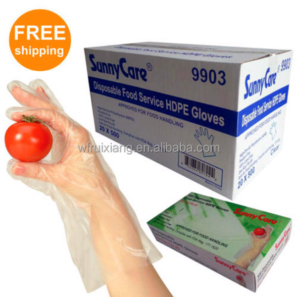 10000pcs Convenient Dinner Food Service Glove Disposable Food Safe Plastic Hand Gloves