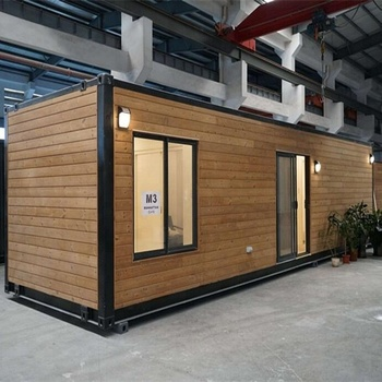 40 feet Standard size prefab beautiful prefabricated portable wooded with glass container house price