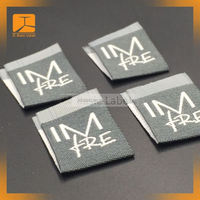 custom cheap price woven label, woven clothing labels tags