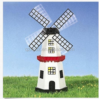 Hot Selling Decorative Resin Solar Garden Windmill Light