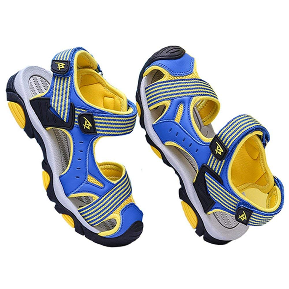 981e9a512ce Get Quotations · LGXH Summer Boys  Striped Hiking Sandals Children s Slip  On Closed Toe Sports Athletic Outdoor Sandals