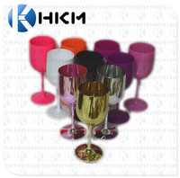 2018 Most popular shatter proof acrylic wine glass/ plastic Champagne flute cup