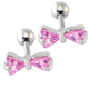 Cute Stud Earrings Women Mix Colors Crystal Stainless Steel Ear Cartilage Helix Piercing Best Gift Body Jewelry