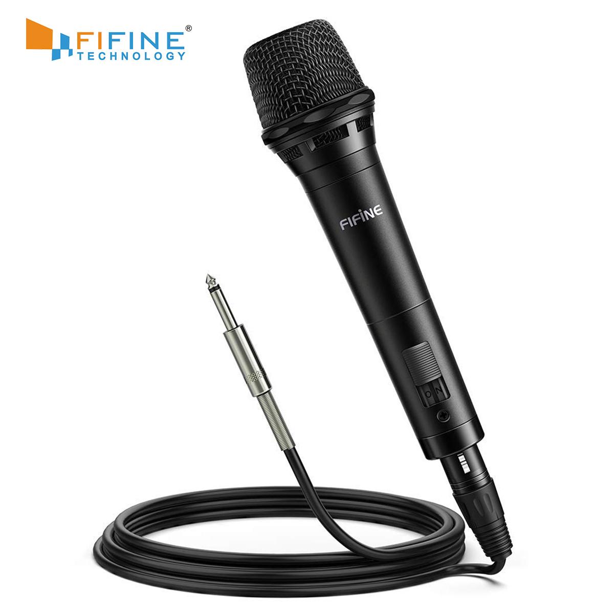 Fifine Tahun Gereja Tahap Karaoke Dinamis Genggam Nirkabel Konferensi Mikrofon