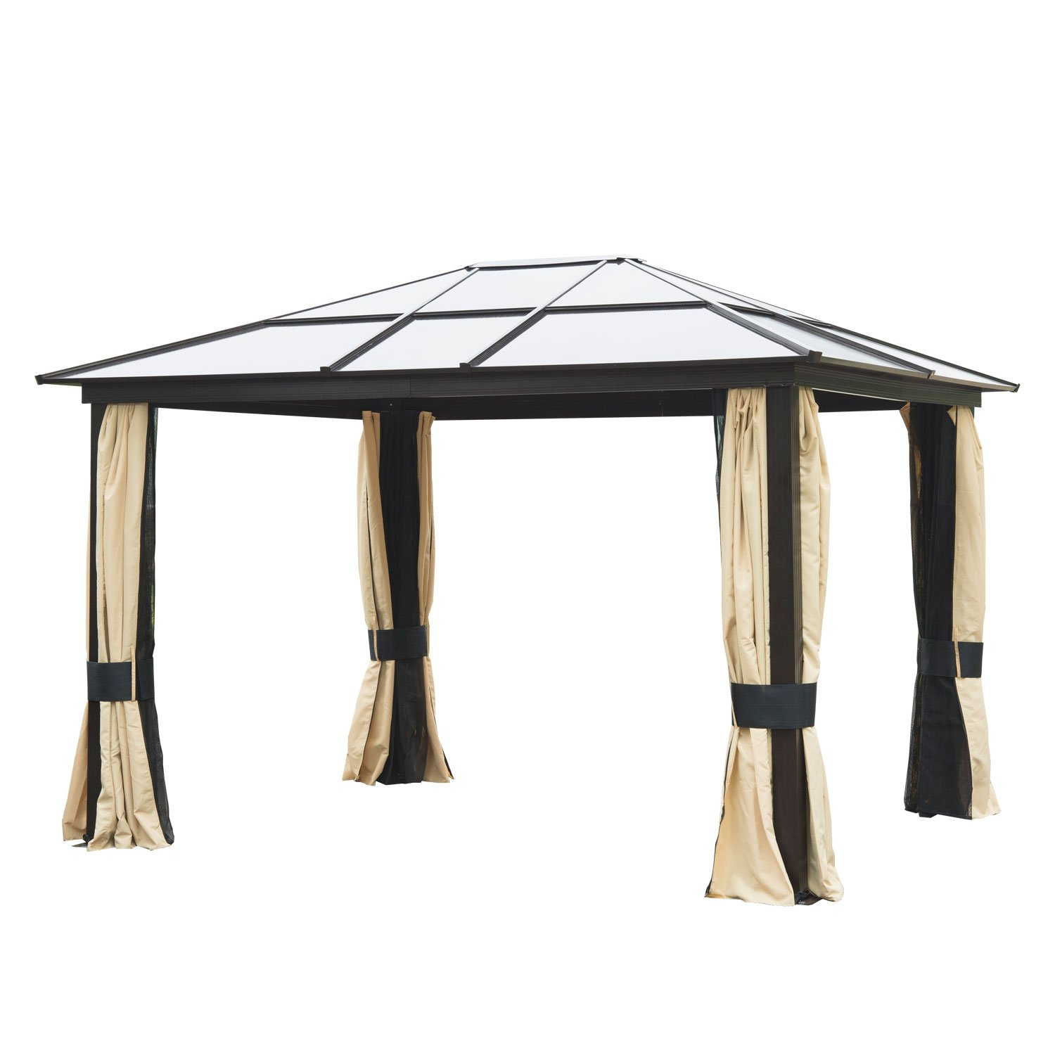 Get Quotations · Outsunny 12' x 10' Outdoor Patio Canopy Party Gazebo  w/Mesh and Curtains - Cheap Party Gazebo For Sale, Find Party Gazebo For Sale Deals On