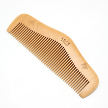 Essential custom Logo peach wood comb round comb butterfly hair comb