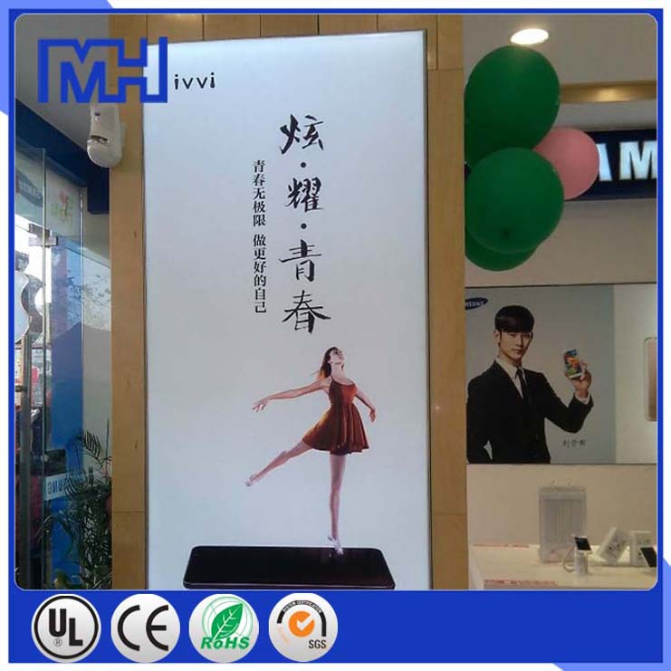 single sided aluminum extrusion snap frame with corners advertising light box