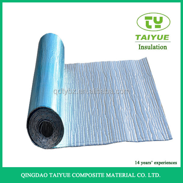 Fireproof aluminum heat shield fabric woven radiant for Fireproof vapor barrier